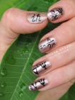 Quantum mechanics nail art
