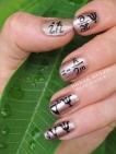 Quantum mechanics nail art