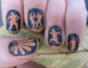 Greek pottery nail art