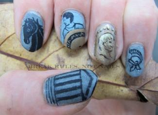 Roman times nail art