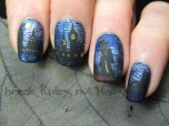 Jack the Ripper nail art