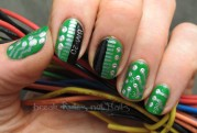 Circuit board nail art