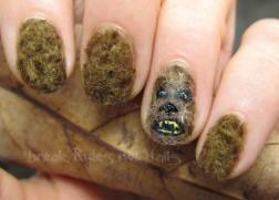 Chewbacca nail art
