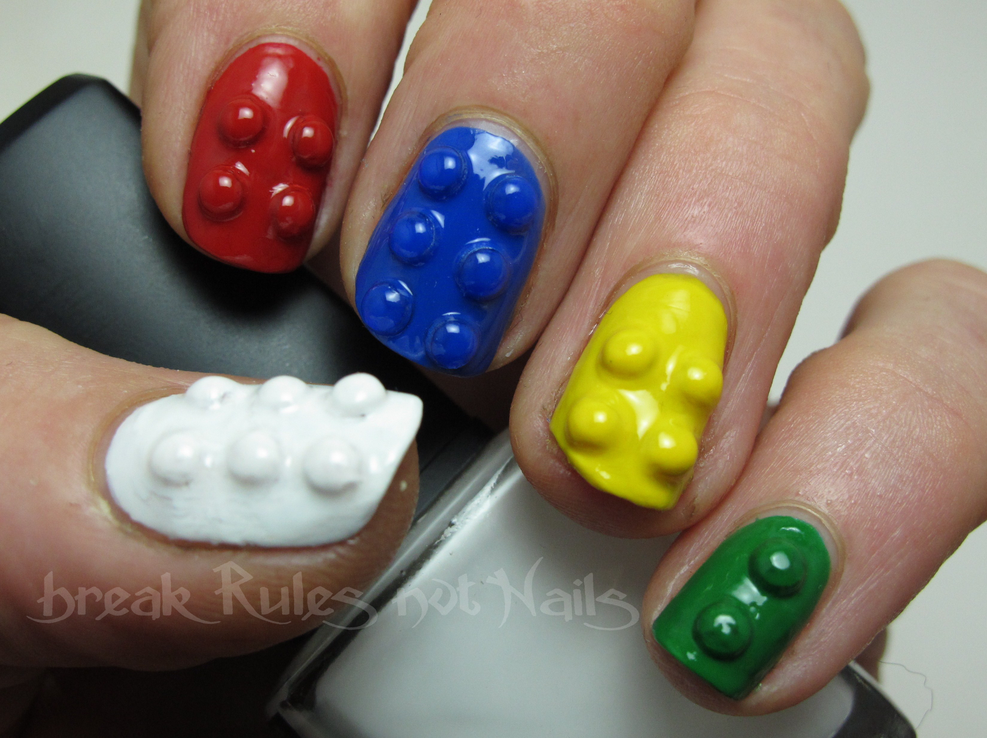 Lego nails…. | Break rules, not nails