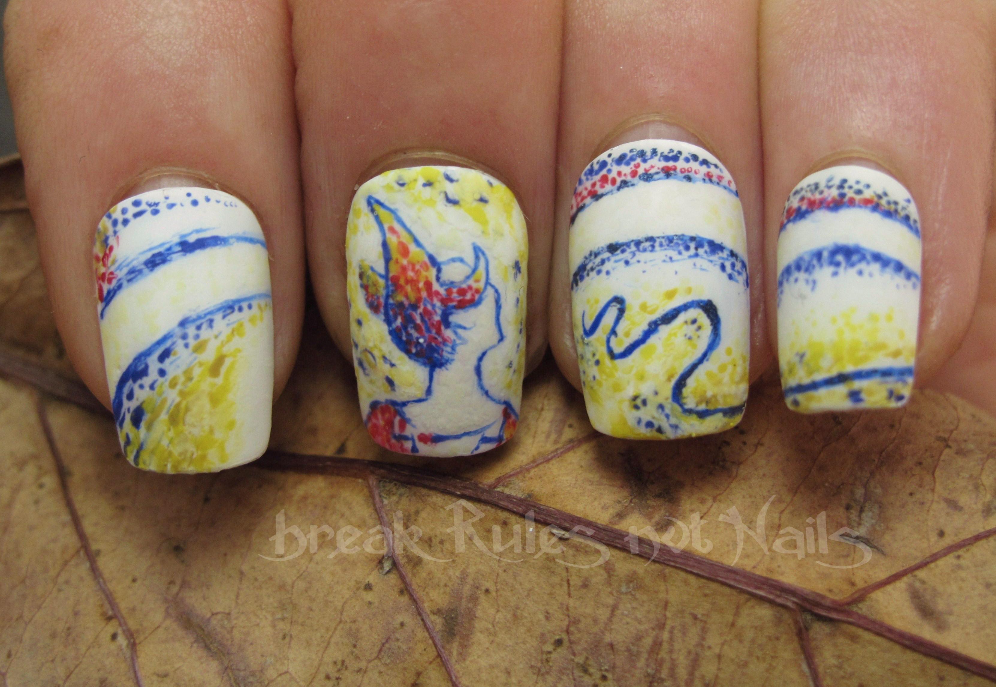 Pointillism Nail Art Break Rules Not Nails