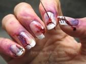 Zombie nail art