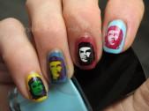 Che Guevara pop art nails