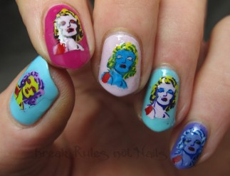 Marilyn Monroe pop art nails