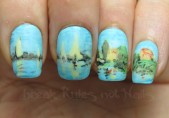 Monet nail art