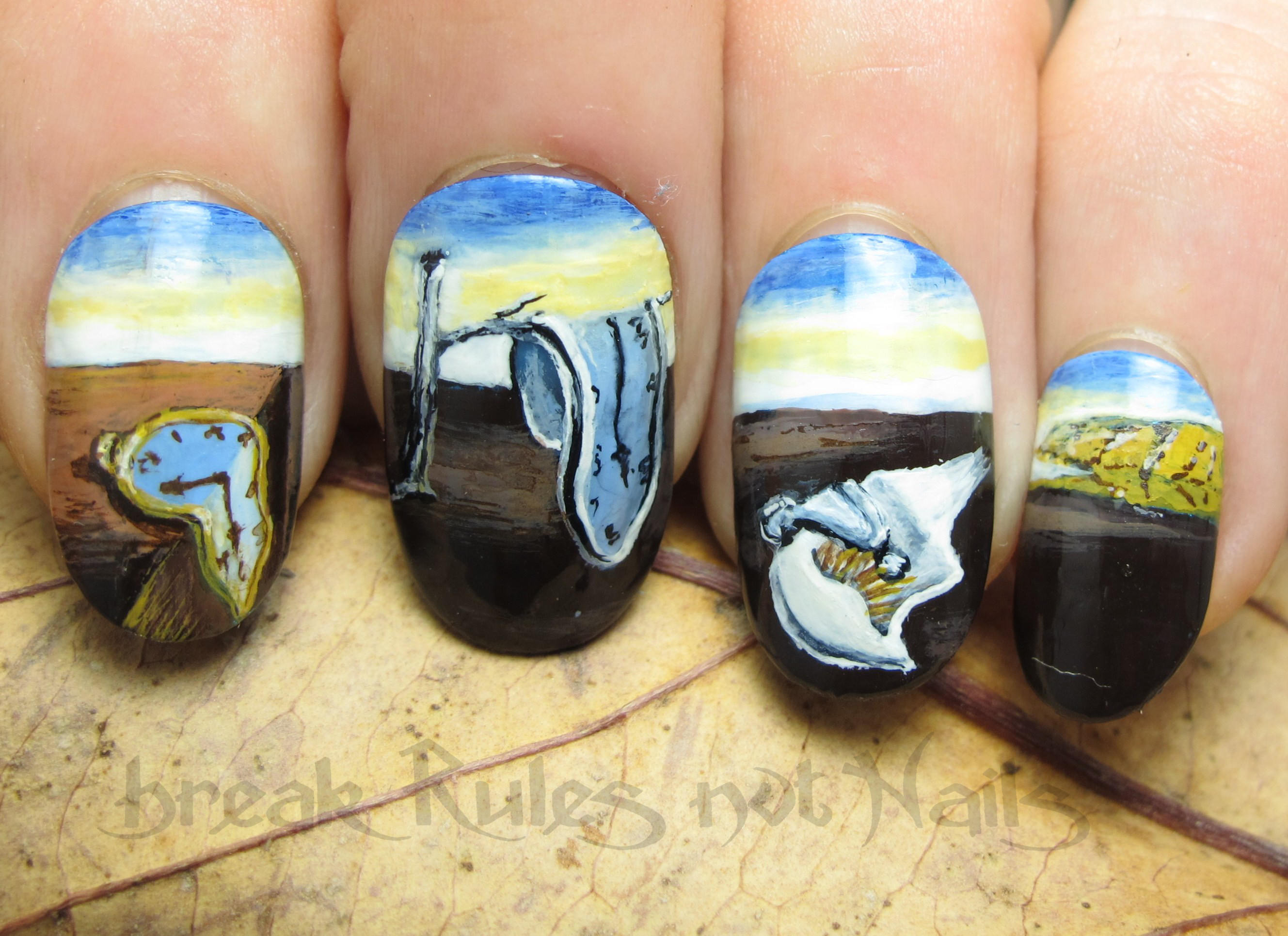 Dali nail art | Break rules, not nails