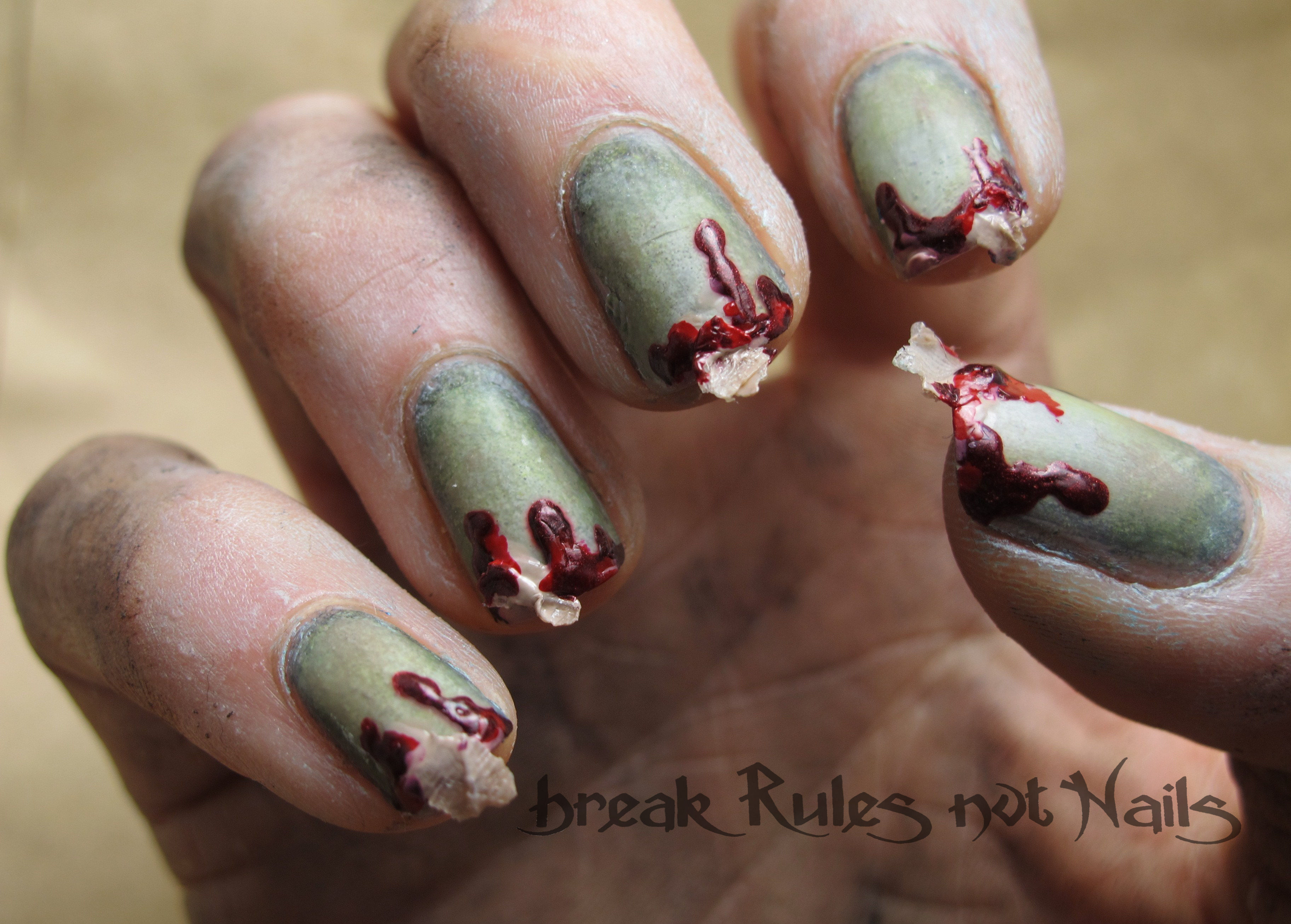 Torn flesh nail art break rules not nails torn flesh prinsesfo Choice Image