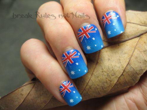 Aust day fake nails