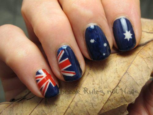 Aust flag tattoo