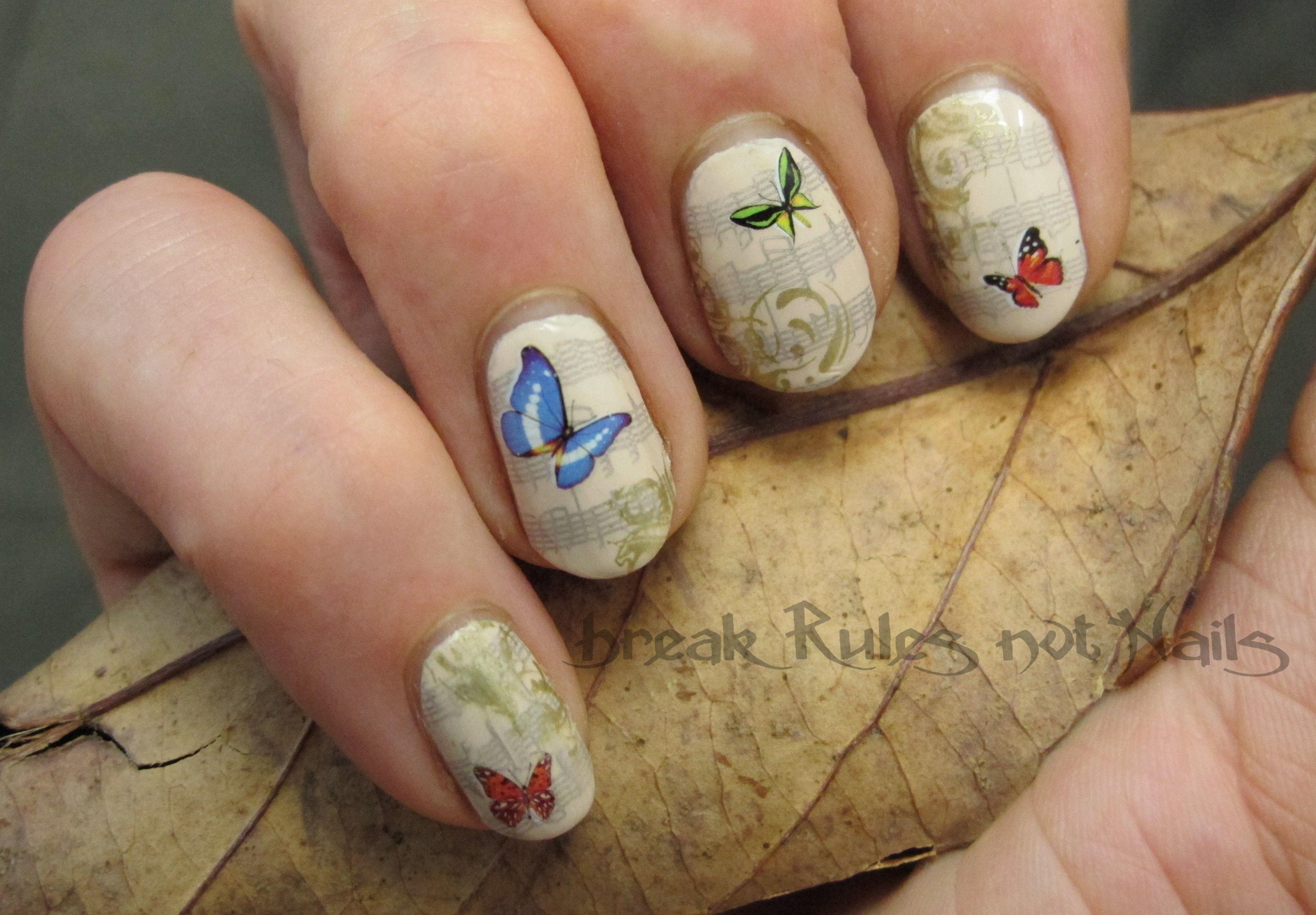 Enchanted Walk Inspired Nail Art Break Rules Not Nails