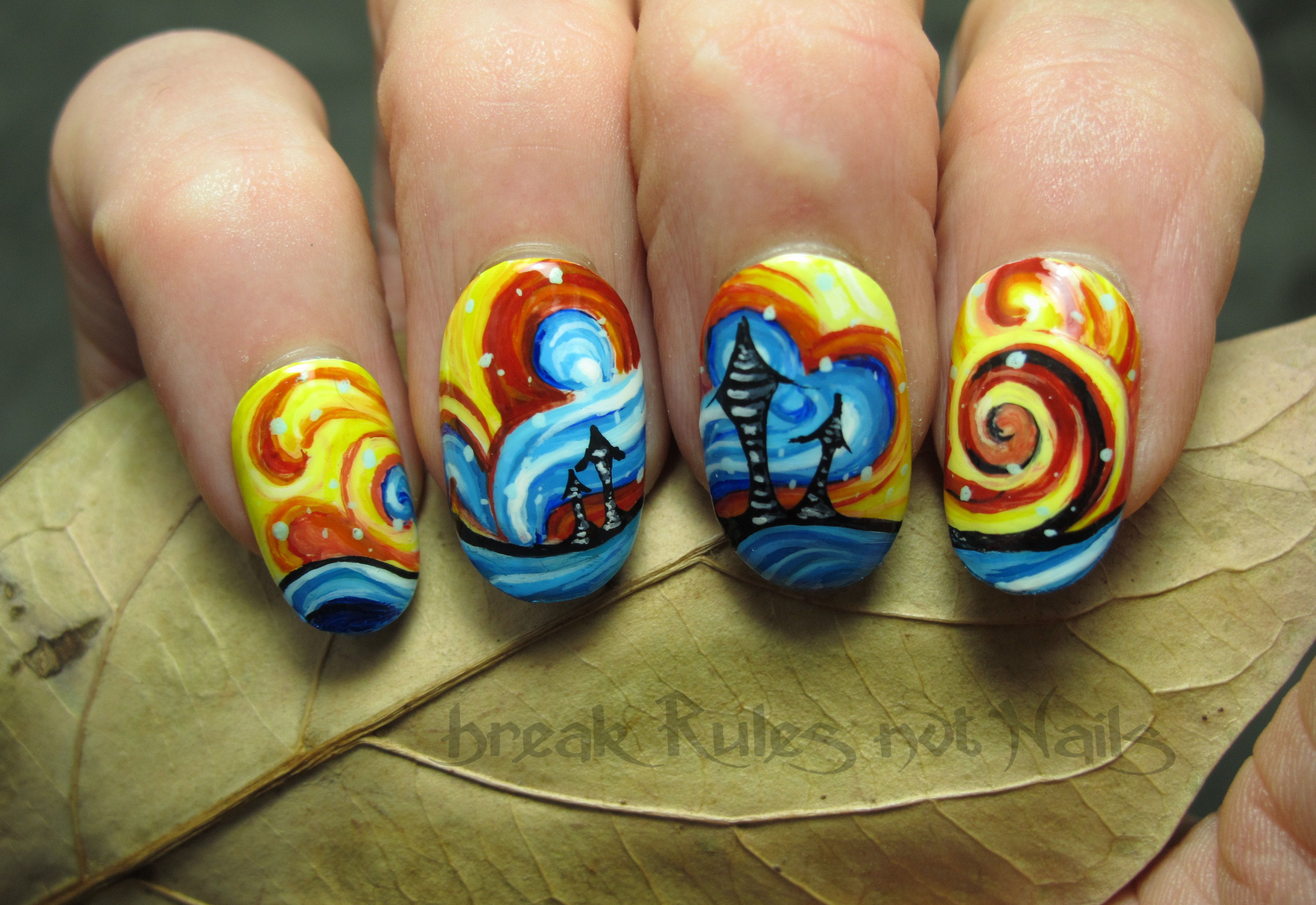 Abstract nail art break rules not nails abstract 2 prinsesfo Images