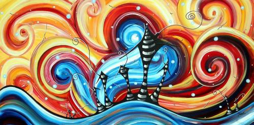 abstract-art-original-colorful-funky-house-painting-home-on-the-hill-by-madart-megan-duncanson