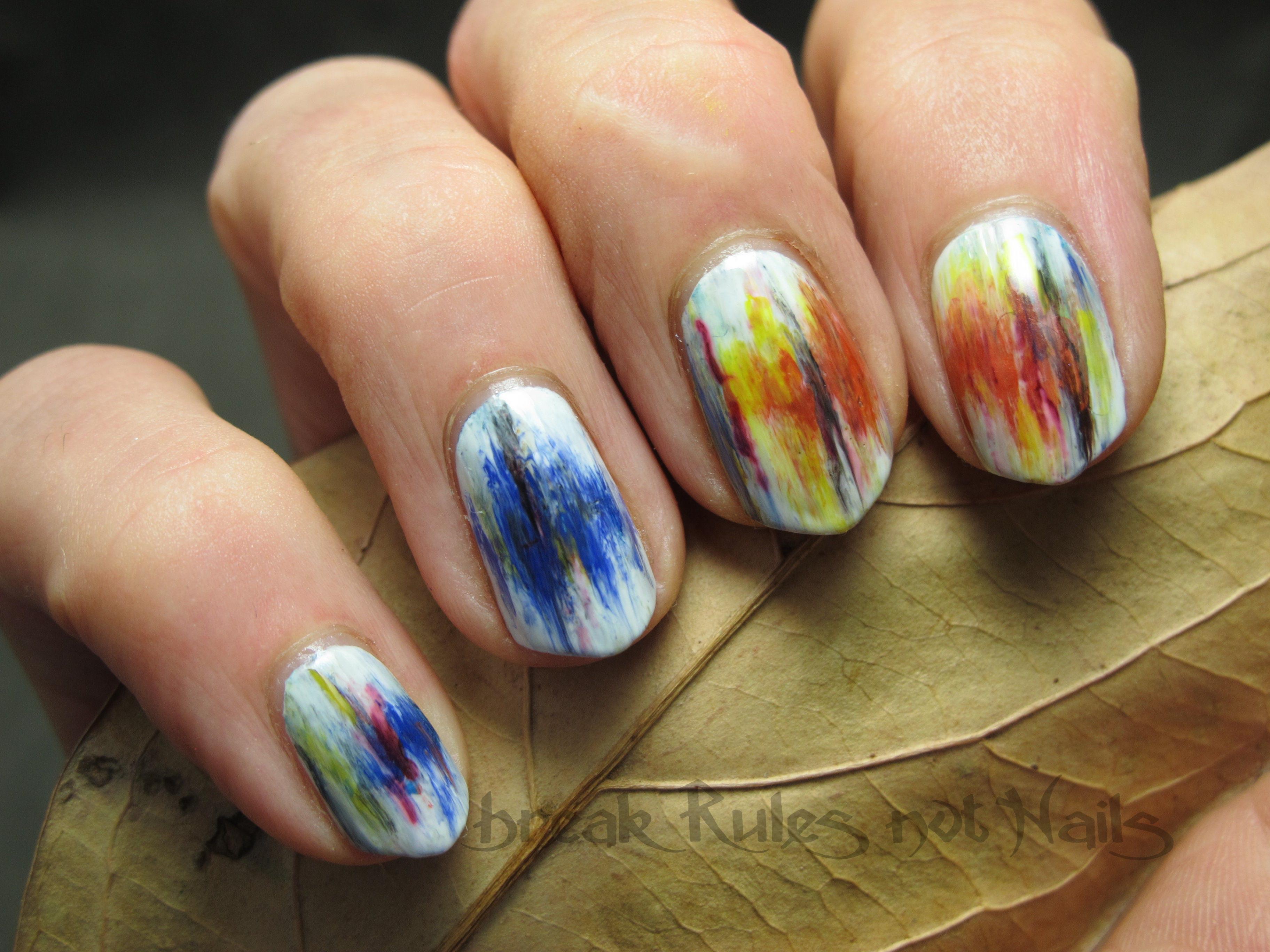 textured nail art | Break rules, not nails