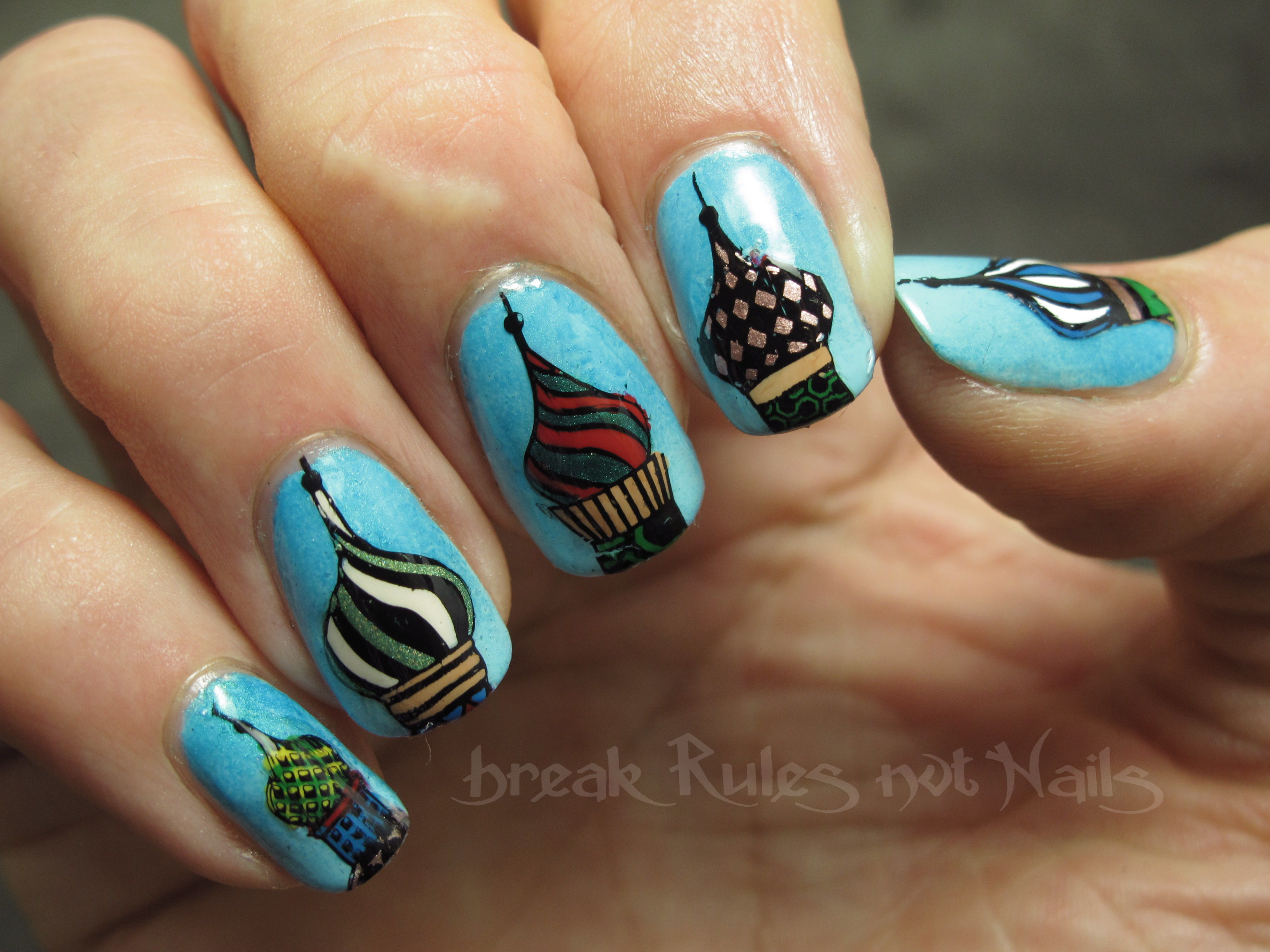 Stamping decal nail art | Break rules, not nails