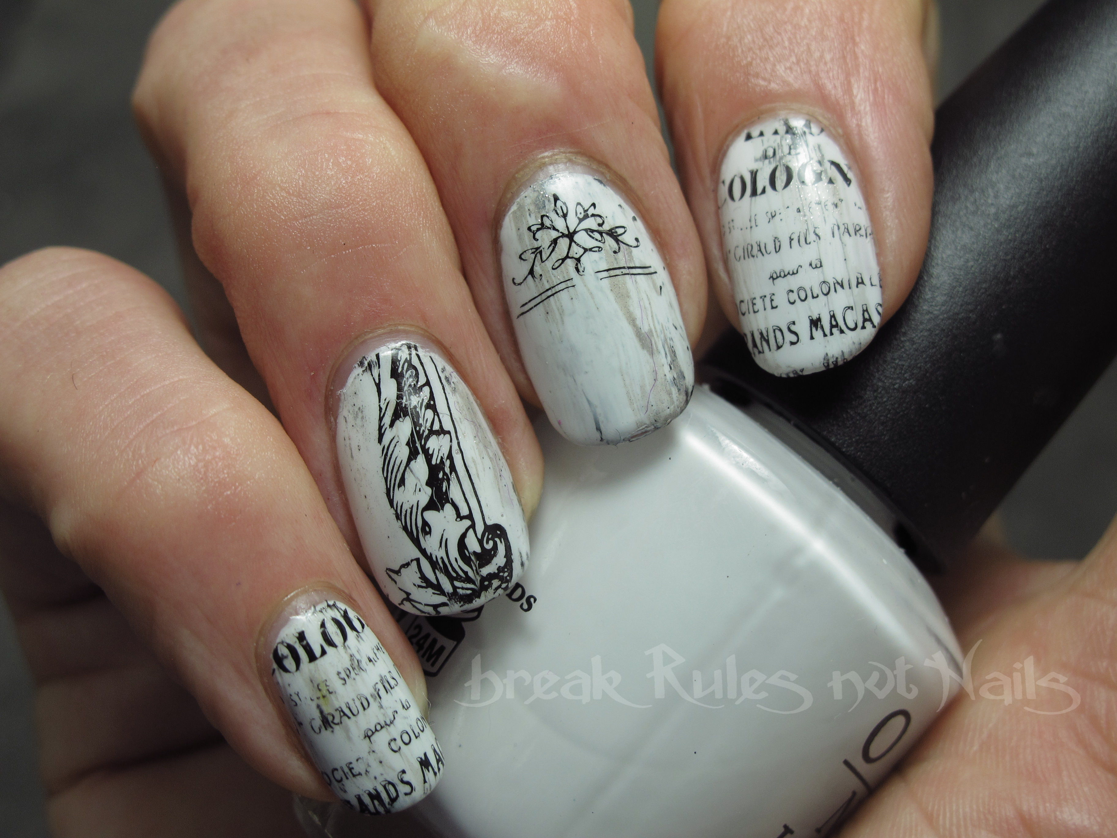 Vintage Nail Art Break Rules Not Nails