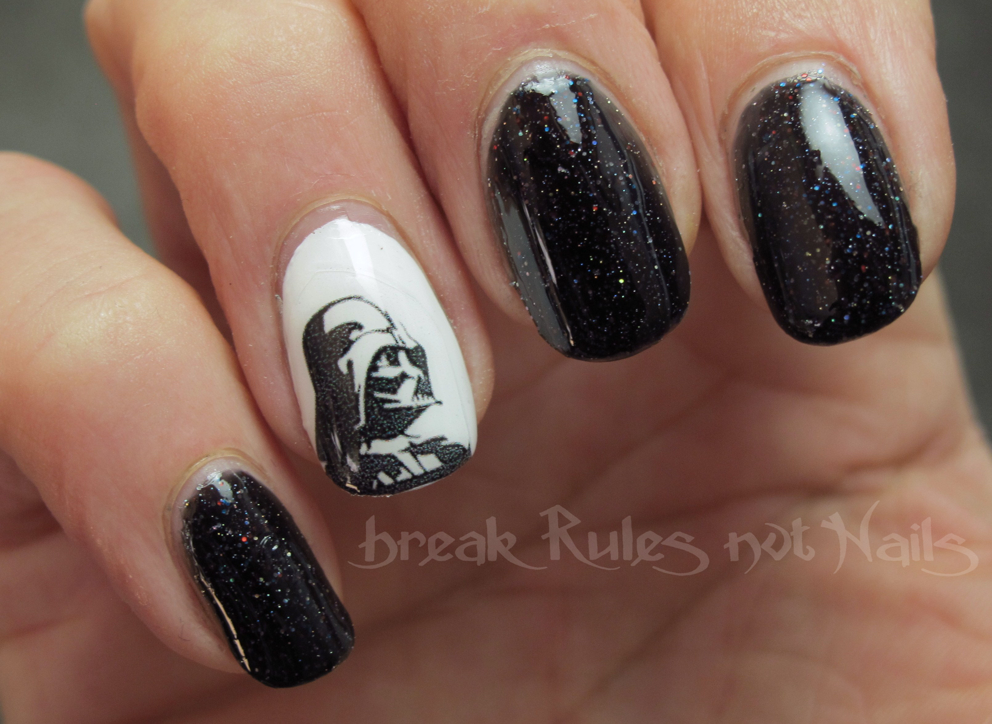 Darth Vader nail art | Break rules, not nails
