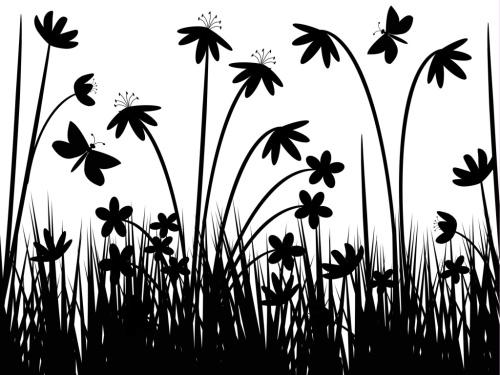 Black-and-White-Flower-Wallpaper