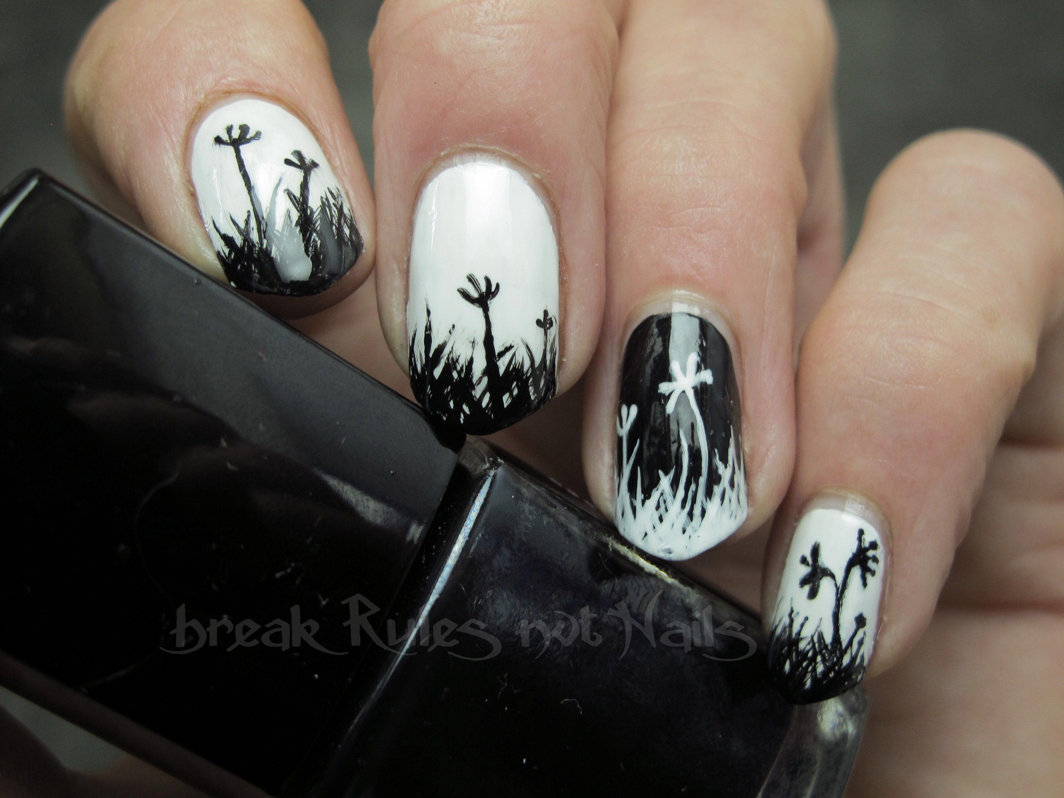 Black And White Nail Art Break Rules Not Nails