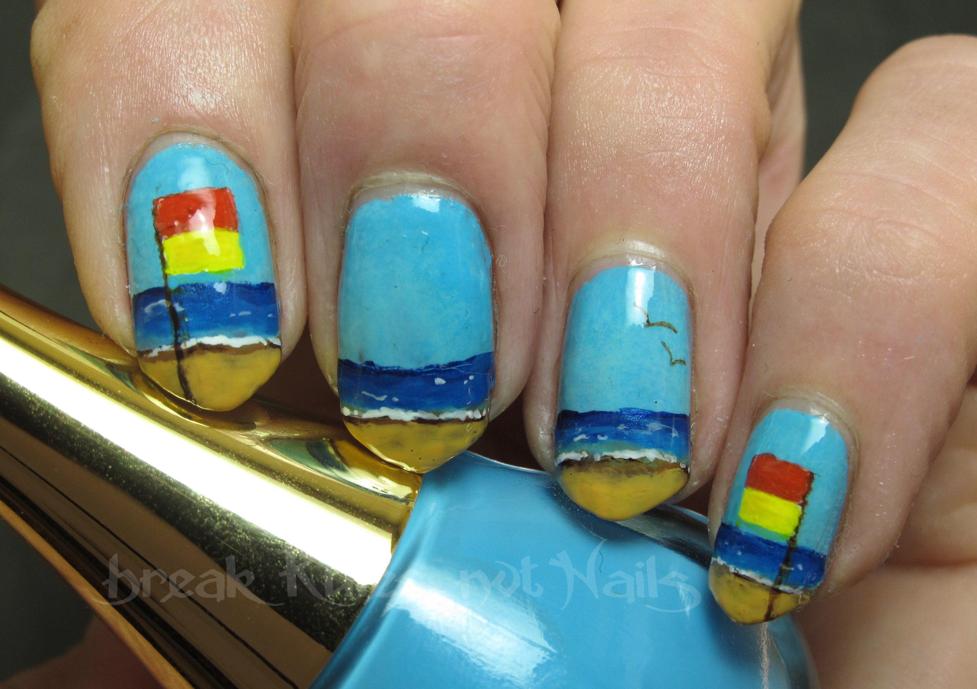 Swim Between The Flags Nail Art Break Rules Not Nails
