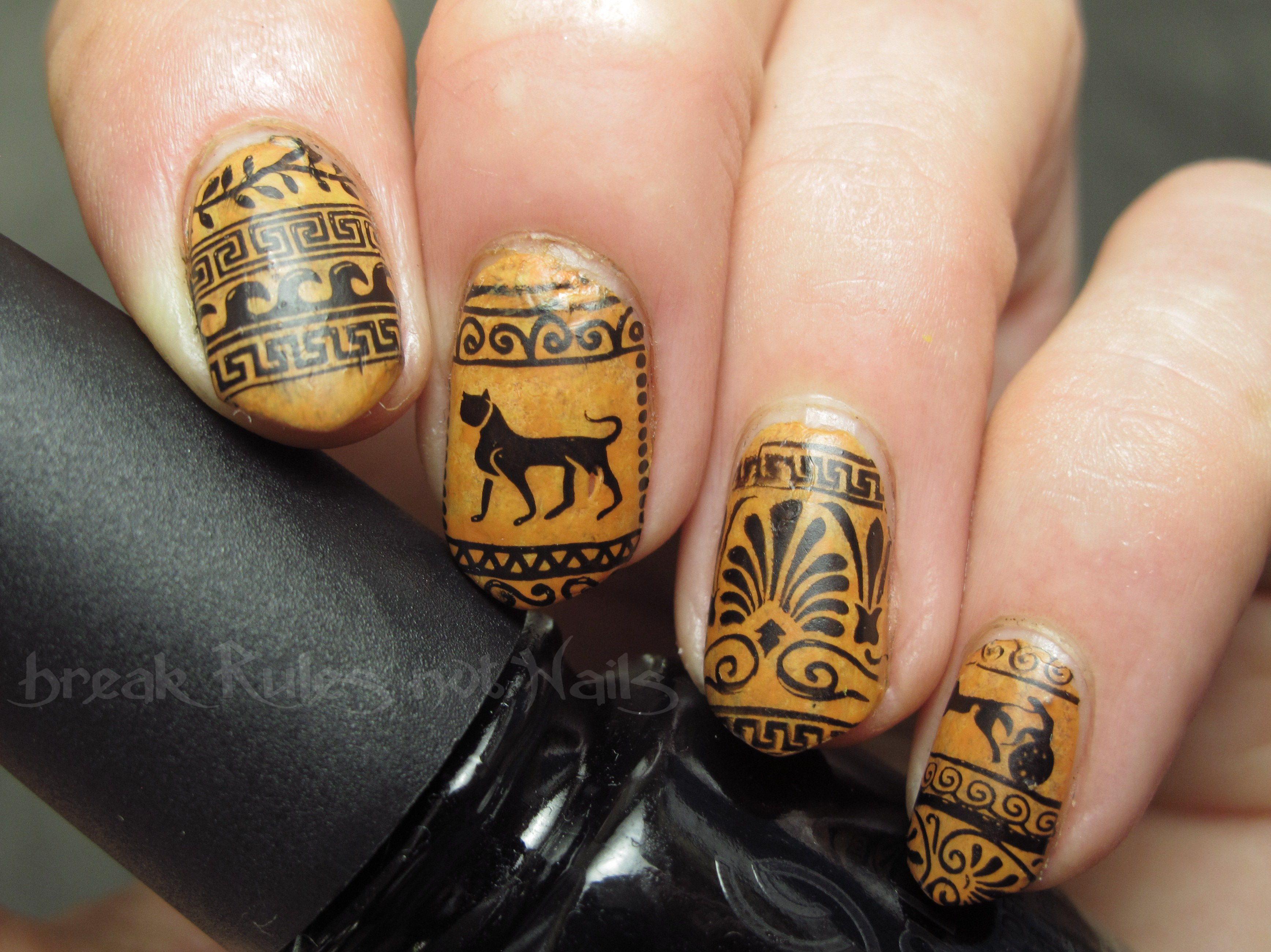 Ancient greek nail art | Break rules, not nails