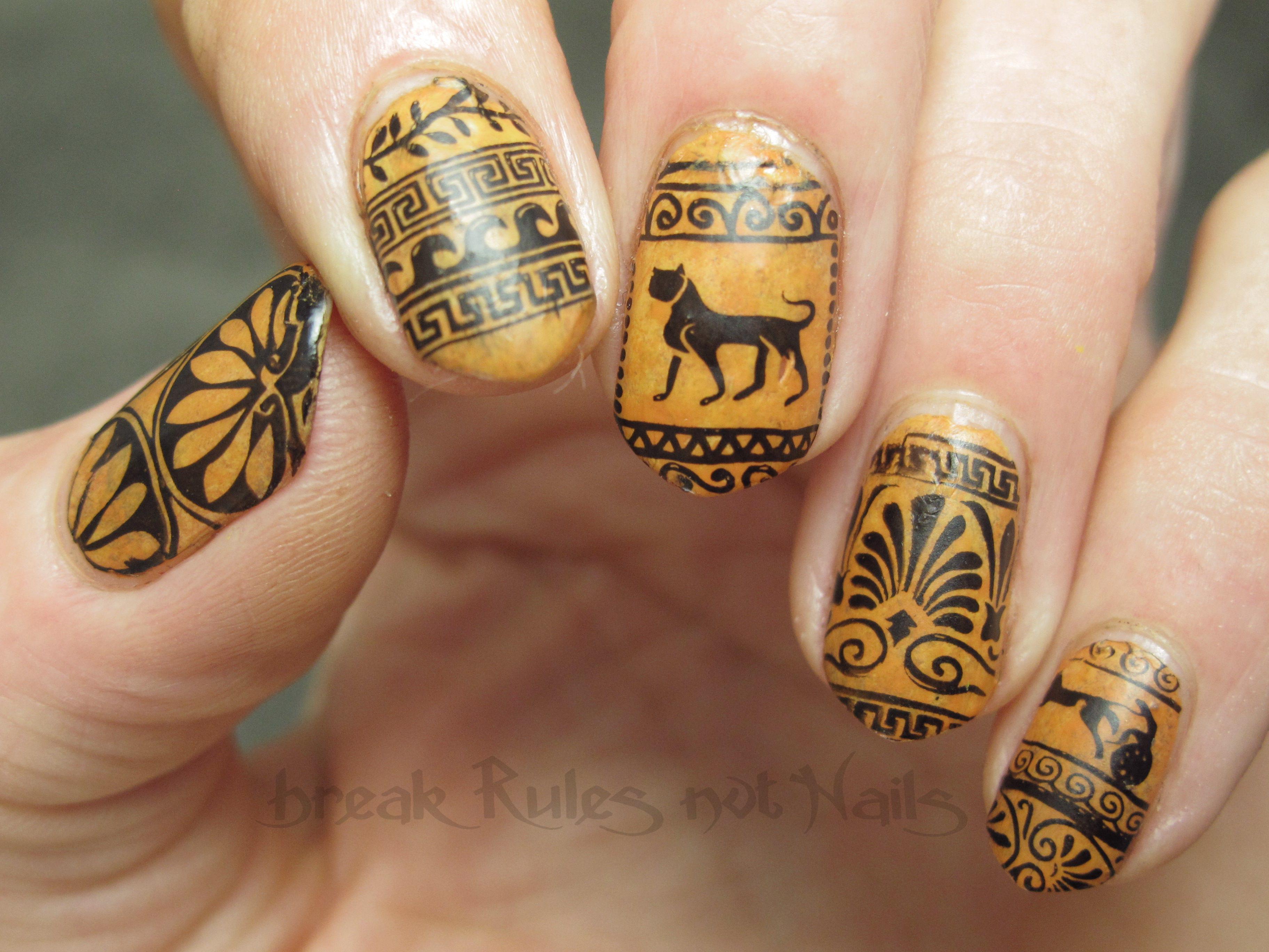 Ancient Greek Nail Art Break Rules Not Nails