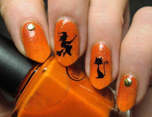 Black and orange Halloween decals