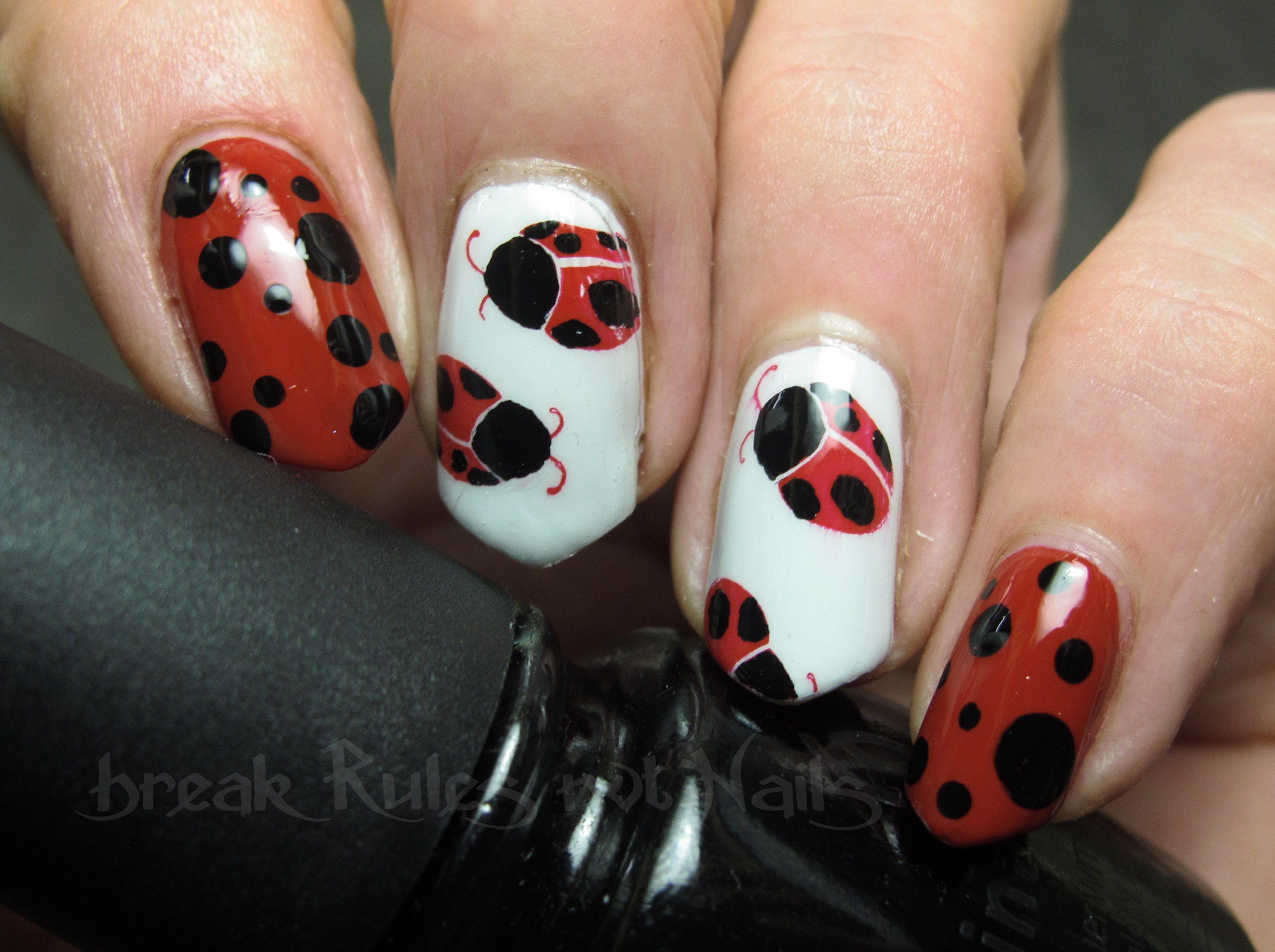 Ladybird Nail Art Break Rules Not Nails
