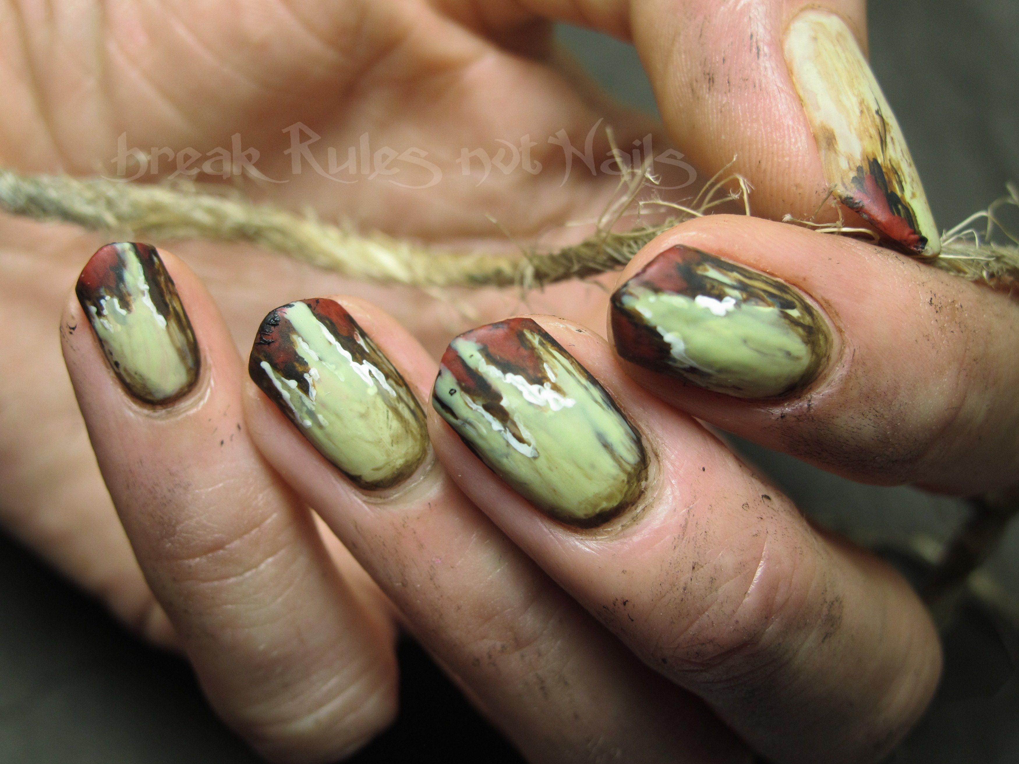 Zombie nail art break rules not nails robin zombie 3 prinsesfo Choice Image