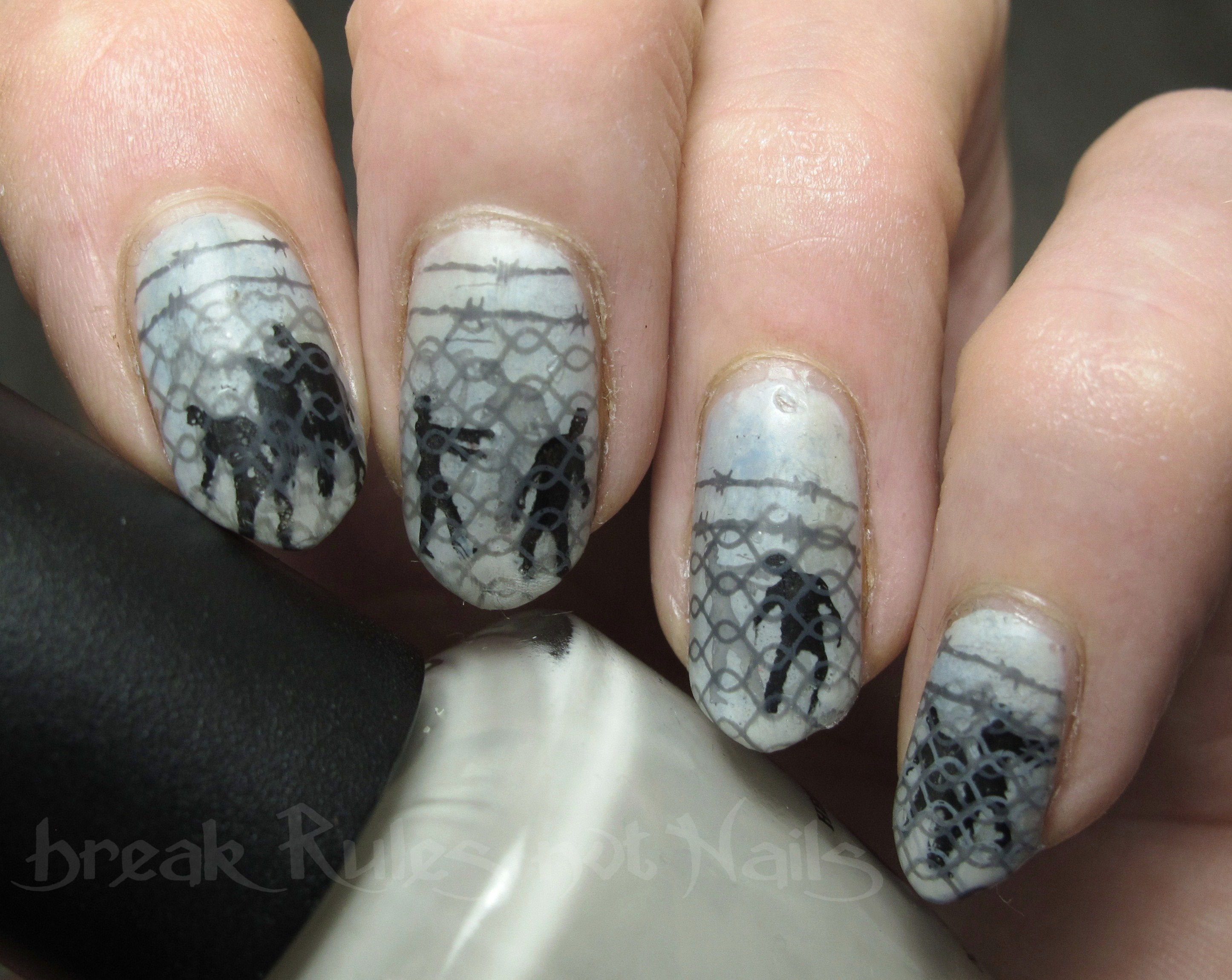 Walking Dead Nail Art Break Rules Not Nails