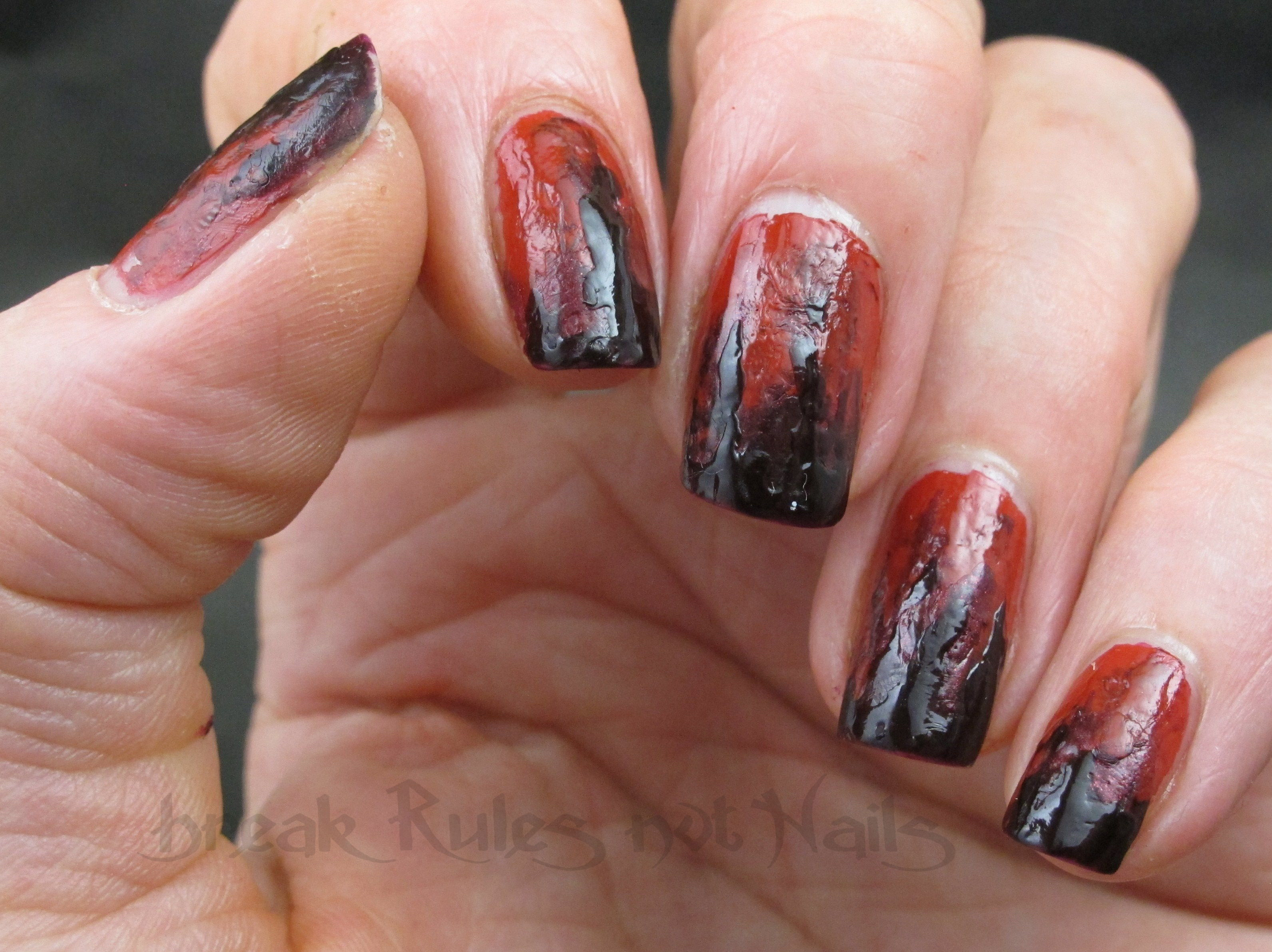 Zombie Nail Art Break Rules Not Nails